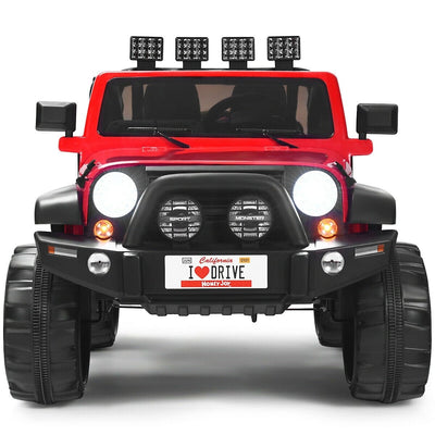 Classic 2-Seater Jeep Style 12v Kids Ride on Car
