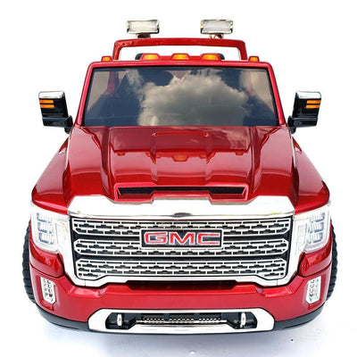 GMC Sierra Denali 24V RIDE-ON CAR KIDS TRUCK IN RED (2-Seater) with Remote Control