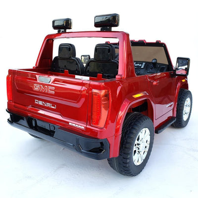 GMC Sierra Denali 4-Wheel Drive 12V RIDE-ON CAR KIDS TRUCK (2-Seater) with Remote Control
