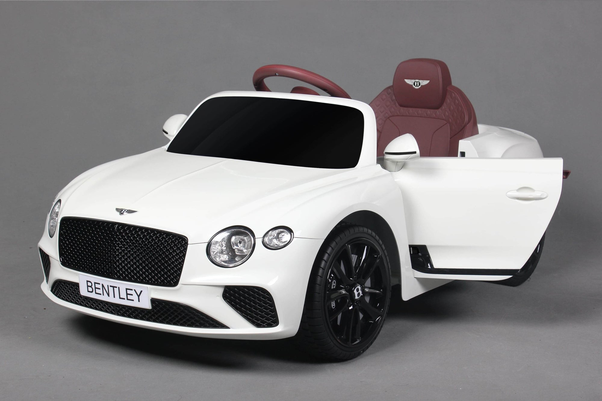 BENTLEY CONTINENTAL GT LICENSED 12V KIDS ELECTRIC RIDE-ON CAR IN WHITE - FREE SHIPPING