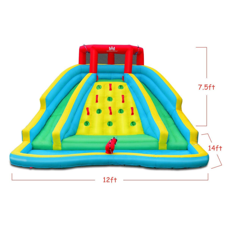 Inflatable Super Water Slide Bounce House with Mighty Splash Pool with 480W Blower Included - FREE SHIPPING