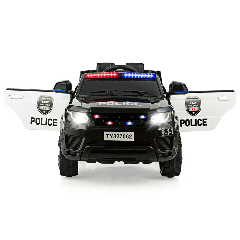 Kid's Police 12V Ride-On 1-Seater Car with Remote Control and Bluetooth- FREE SHIPPING
