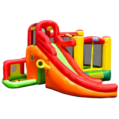 Kids Inflatable Slide House Castle Jumper Bouncer with 780W Air Blower
