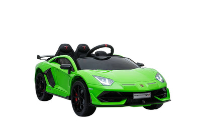 LAMBORGHINI AVENTADOR SVJ LICENSED 1-SEATER 12V KIDS RIDE-ON CAR W/ REMOTE - FREE SHIPPING