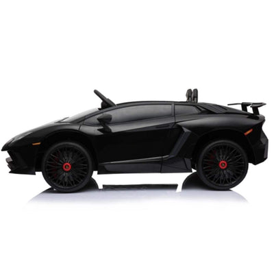 Lamborghini Aventador SV Roadster Licensed 1-SEATER 12v Kids Ride-On Car w/ Remote in Black - Free Shipping