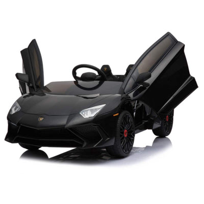 Lamborghini Aventador SV 1-Seater 12v Kids Ride-On Car with Remote in Black