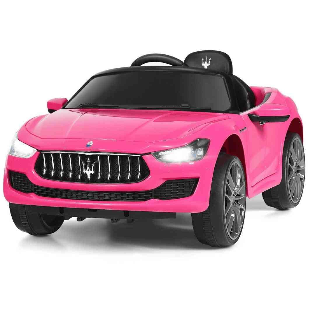 Pink Maserati Ghibli Licensed 12V Kids Ride On Car with Remote Control - FREE SHIPPING