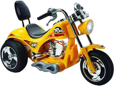 Red Hawk 12v Kid's Ride-On Motorcycle in Yellow
