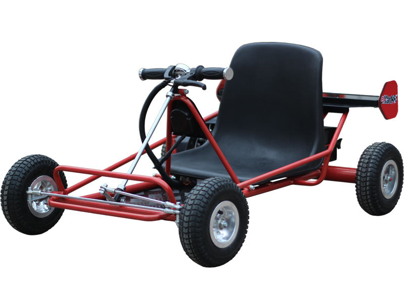 Solar Electric Powered 24v Kid's Ride-On Go Kart | Red