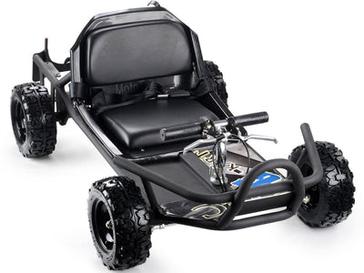 SandMan Gas Powered 49cc Kid's Ride-On Go Kart in Black - FREE SHIPPING