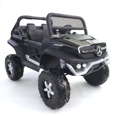 Mercedes Benz Unimog 24V Ride-on Car Kids Truck (2-Seater) with EVA Rubber Wheels, Leather Seats, and Remote Control