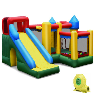 Mighty Inflatable Bounce House Castle Jumper Moonwalk with 735W Air Blower