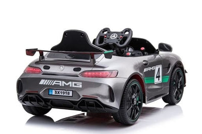 RACING MERCEDES BENZ AMG GT4 COUPE LICENSED 12V KIDS ELECTRIC RIDE-ON CAR WITH REMOTE CONTROL - FREE SHIPPING