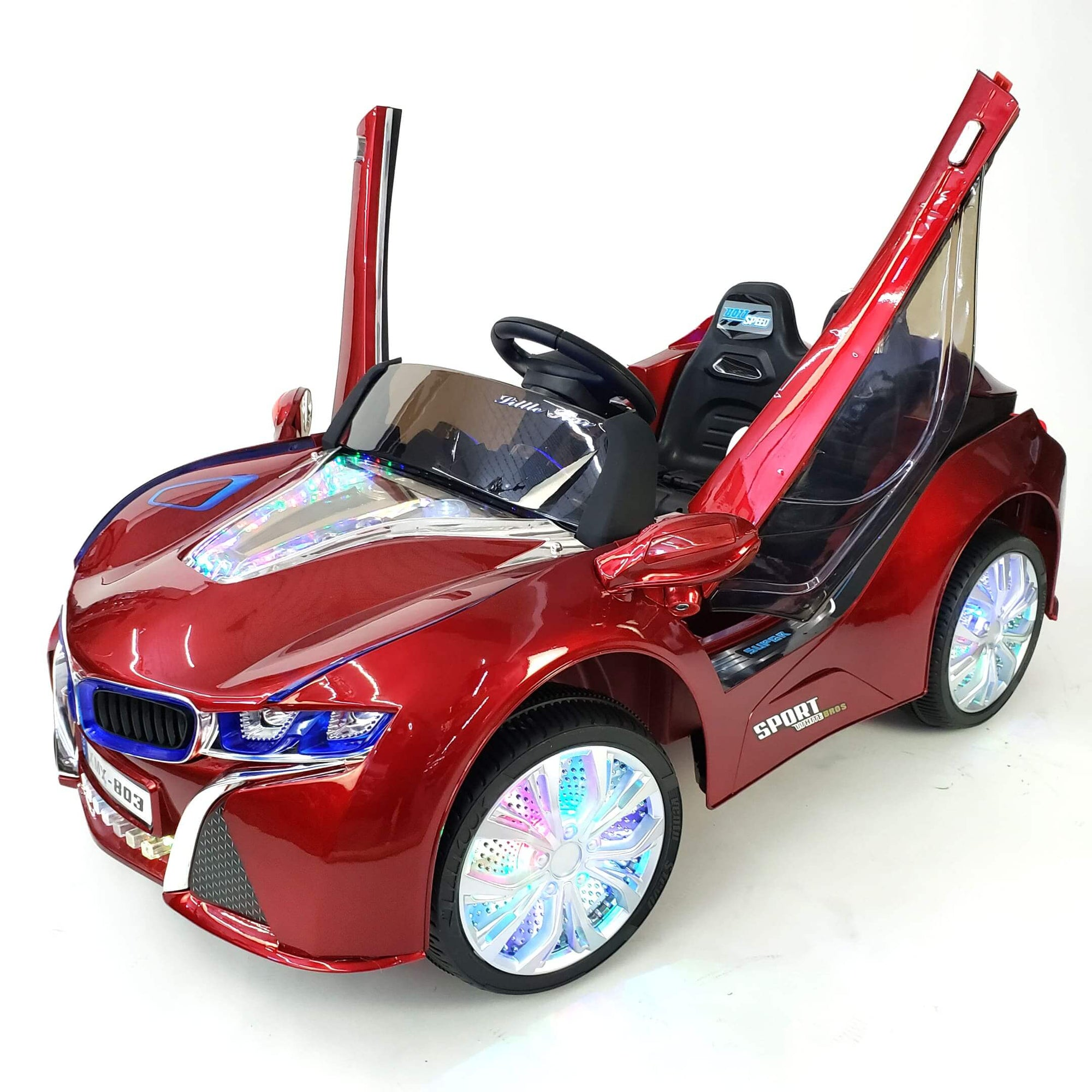 BMW i8 Inspired 1-Seater 12v Kids Ride-On Car in Red - FREE SHIPPING