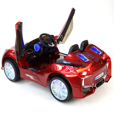 BMW i8 Inspired 1-Seater 12v Kids Ride-On Car in Red