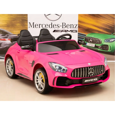 UPGRADED MERCEDES BENZ AMG GT R Coupe Licensed 12V KIDS ELECTRIC 2-SEATER RIDE-ON CAR - FREE SHIPPING