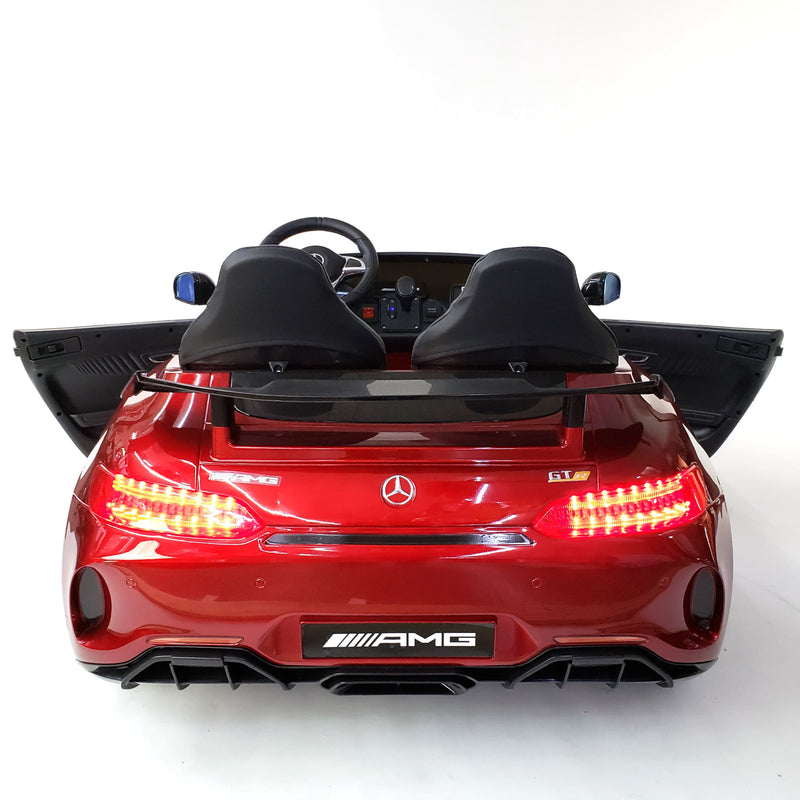 UPGRADED MERCEDES BENZ AMG GT R Coupe Licensed 12V KIDS ELECTRIC 2-SEATER RIDE-ON CAR IN RED - FREE SHIPPING