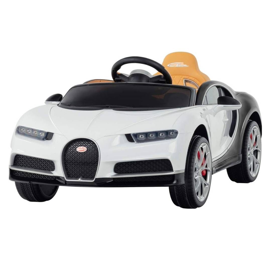 White Bugatti Chiron 12V Kids Ride On Car with Remote Control - FREE SHIPPING