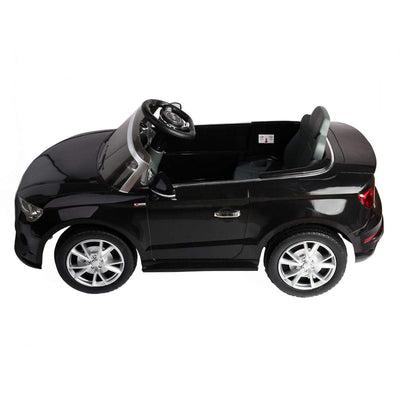 Audi A3 12V Kids Ride on Car with Remote Control and MP3 - FREE SHIPPING Cars & SUVs Costway Black