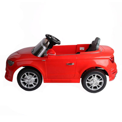 Audi A3 12V Kids Ride on Car with Remote Control and MP3 - FREE SHIPPING Cars & SUVs Costway Red
