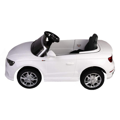 Audi A3 12V Kids Ride on Car with Remote Control and MP3 - FREE SHIPPING Cars & SUVs Costway White