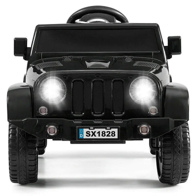 Battery Powered Kids Ride On Car with Remote Control Cars & SUVs Costway Black
