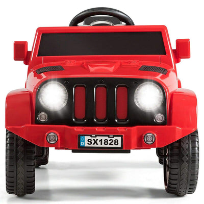 Battery Powered Kids Ride On Car with Remote Control Cars & SUVs Costway Red
