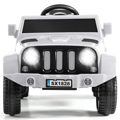 Battery Powered Kids Ride On Car with Remote Control Cars & SUVs Costway White