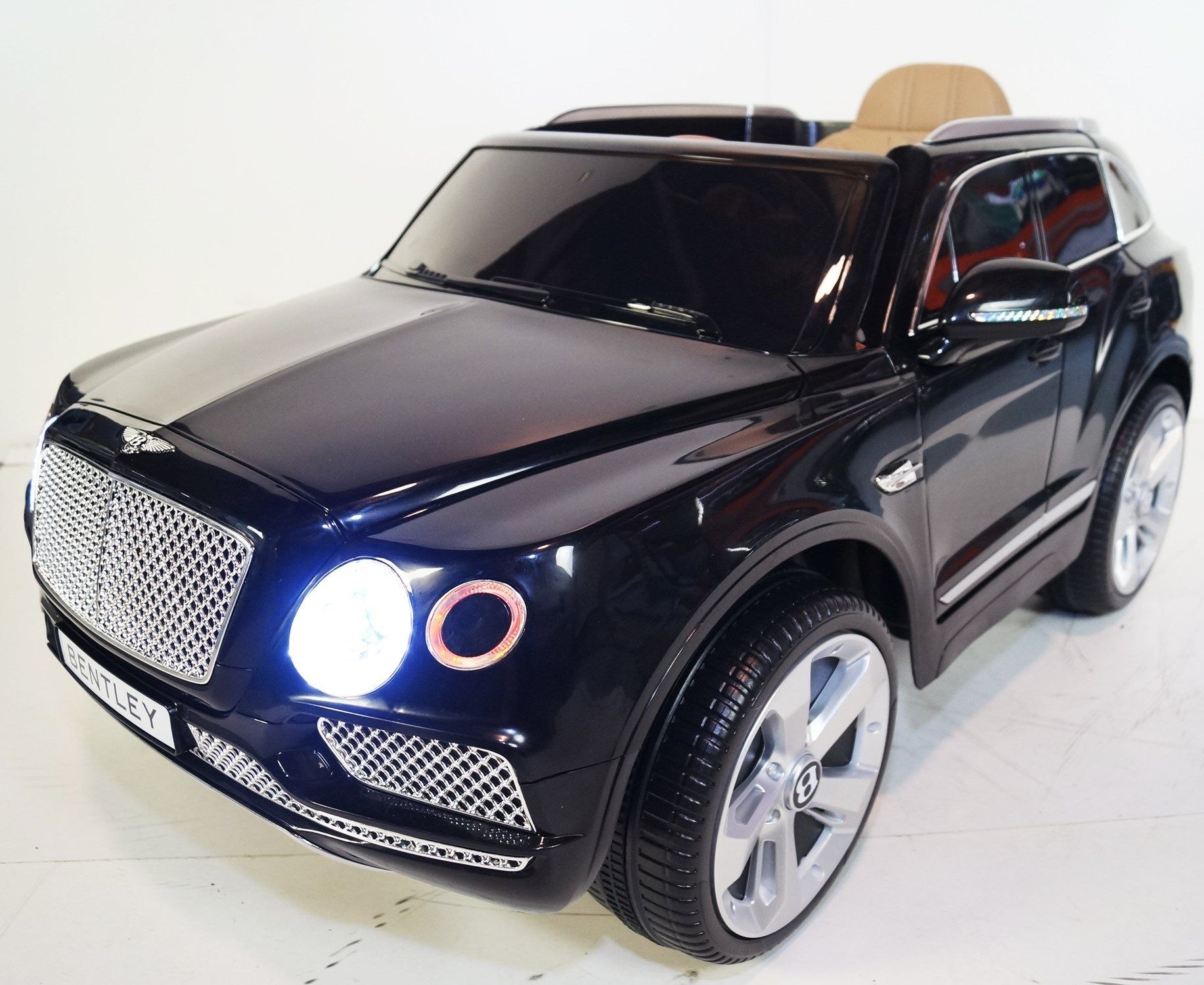 Bentley Bentayga Style Inspired 12v Kids Ride-On Car | BLACK Cars & SUVs Mini Motos
