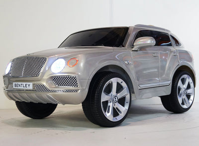 BENTLEY BENTAYGA STYLE INSPIRED 12V KIDS RIDE-ON CAR WITH REMOTE CONTROL | SILVER Cars & SUVs Mini Motos