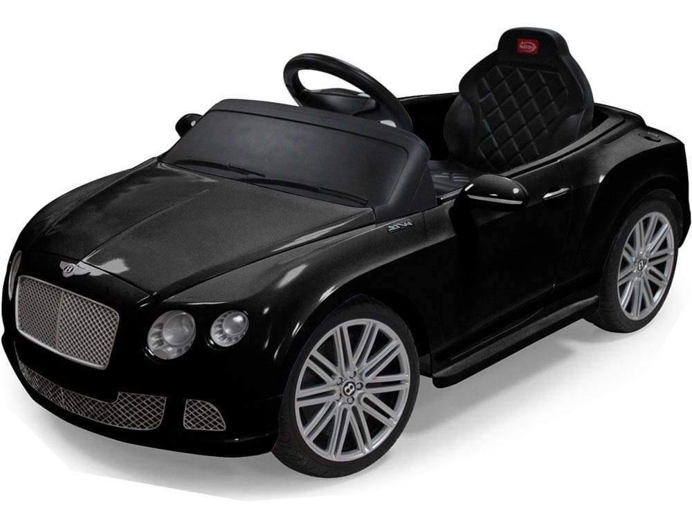 BENTLEY CONTINENTAL GT LICENSED 12V KIDS ELECTRIC RIDE-ON CAR WITH R/C PARENTAL REMOTE | BLACK Cars & SUVs Rastar