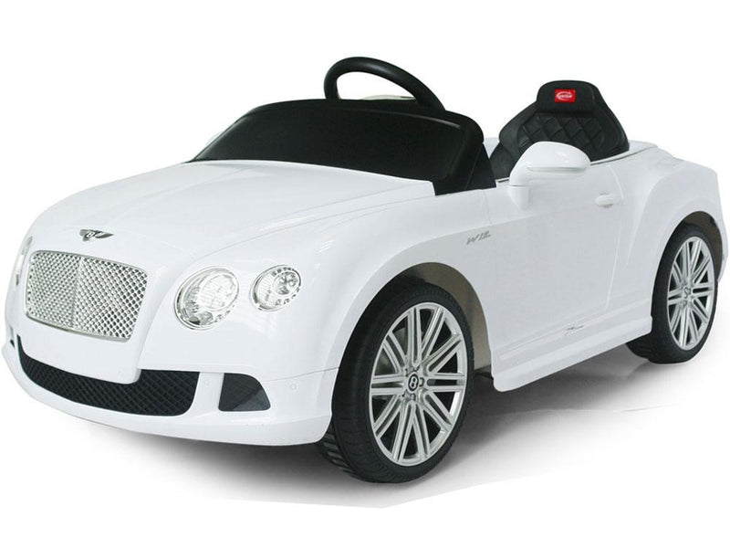 BENTLEY CONTINENTAL GT LICENSED 12V KIDS ELECTRIC RIDE-ON CAR WITH R/C PARENTAL REMOTE | WHITE Cars & SUVs Rastar