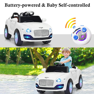 Bentley Inspired 6V Kids Ride-on Car with Remote Control and MP3 - FREE SHIPPING Cars & SUVs Costway