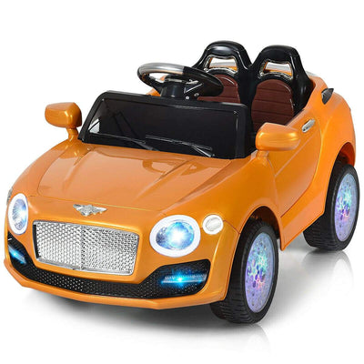 Bentley Inspired 6V Kids Ride-on Car with Remote Control and MP3 - FREE SHIPPING Cars & SUVs Costway Orange