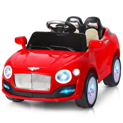 Bentley Inspired 6V Kids Ride-on Car with Remote Control and MP3 - FREE SHIPPING Cars & SUVs Costway Red