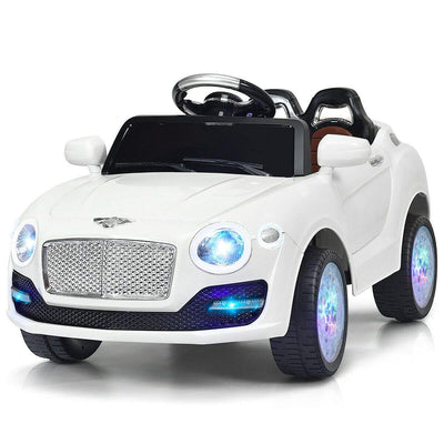 Bentley Inspired 6V Kids Ride-on Car with Remote Control and MP3 - FREE SHIPPING Cars & SUVs Costway White