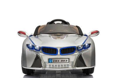 BMW i8 Inspired 12v Ride-on Kids Car | Bright White Silver Cars & SUVs Mini Motos
