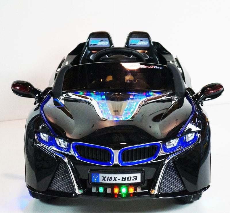 BMW i8 Inspired 12v Ride-On Kids Car | Custom Black Cars & SUVs Mini Motos