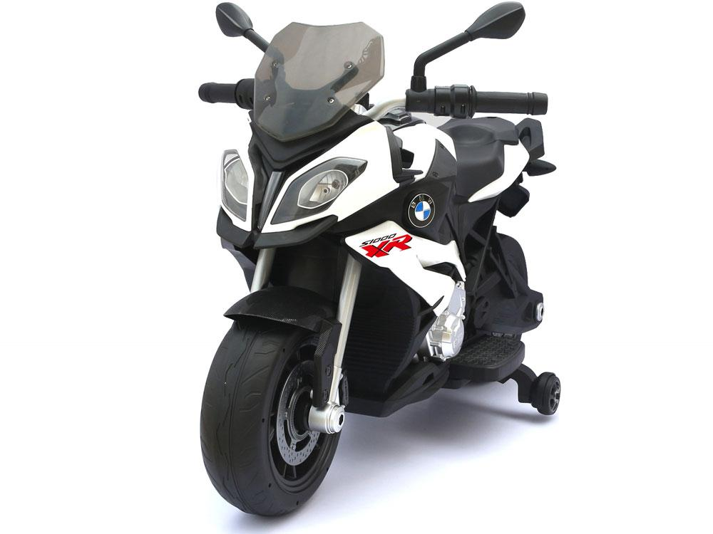 BMW Inspired 12v Kid's Ride-On Motorcycle Motorcycle Rastar White