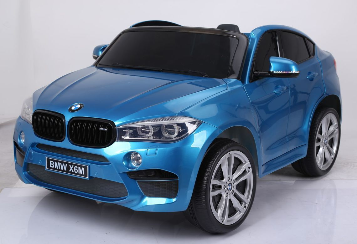 BMW X6 Inspired 12v Kids Ride On Car | Azure Blue Cars & SUVs Mini Motos