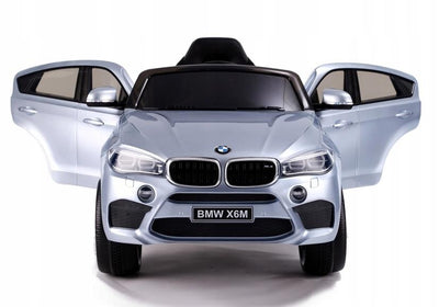 BMW x6 Inspired 12v Kids Ride On Car | Silver Cars & SUVs Mini Motos