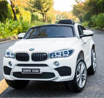 BMW x6 Inspired 12v Kids Ride On Car | White Cars & SUVs Mini Motos