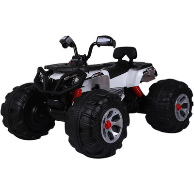 Classic 12v Ride-On Electric Terrain ATV | Black and White Quad Bikes & ATVs Mini Motos