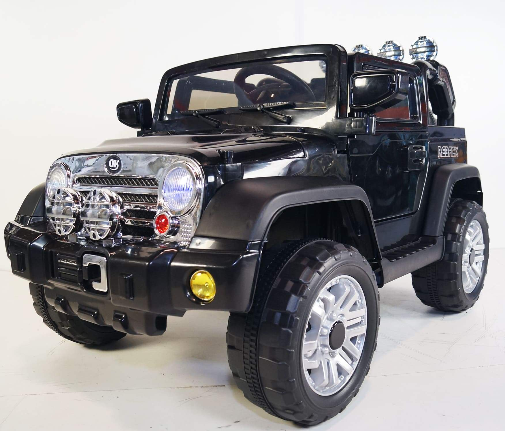 Classic JEEP INSPIRED 12v RIDE-ON KIDS CAR | Black Cars & SUVs Mini Motos
