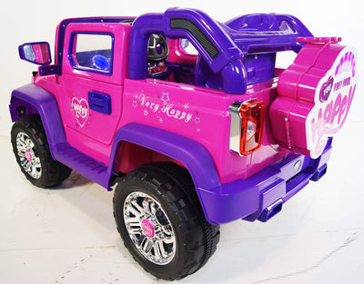 CLASSIC JEEP INSPIRED 12V RIDE-ON KIDS CAR | PINK AND PURPLE Cars & SUVs Mini Motos