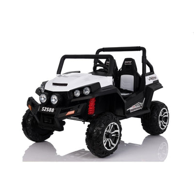 Polaris Inspired 12v Electric Kids Ride-on Buggy ATV in White