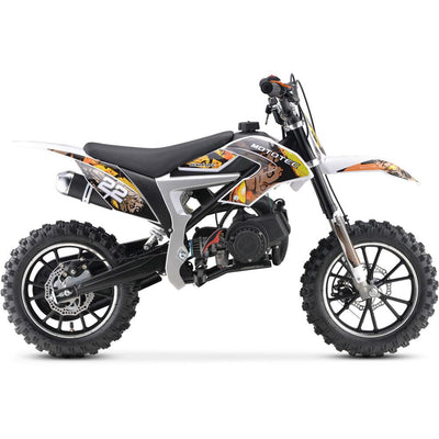 Demon Kid's Ride-On Dirt Bike 50cc | Yellow Dirt Bike MotoTec