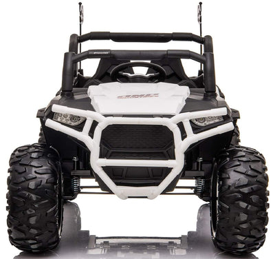 Double 12v Electric Kids Ride-on Buggy ATV | White Quad Bikes Mini Motos