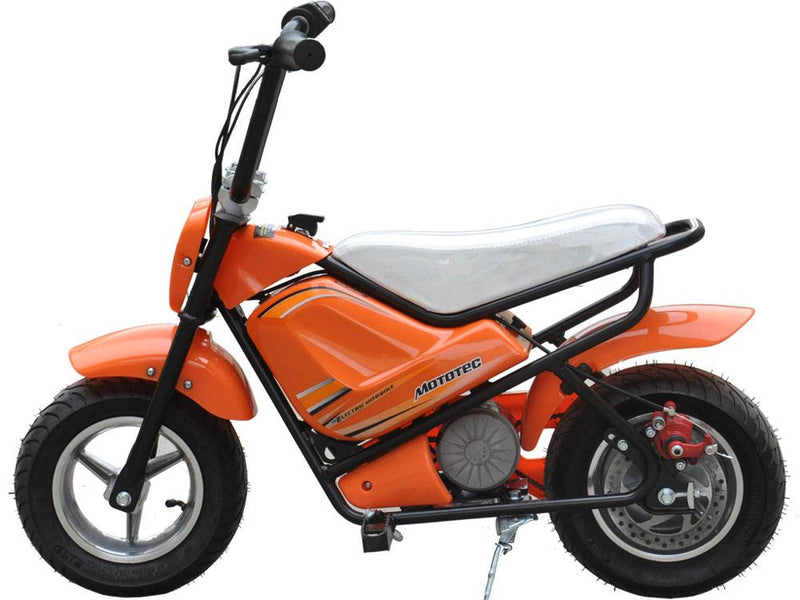 Electric Mini Kid's Ride-On Bike 24v | Orange Motorbike MotoTec
