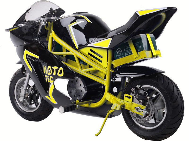 Electric Pocket Bike Kid's Ride-On Bike GT 36v 500w | Yellow Motorbike MotoTec